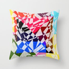 colors drawing Throw Pillow