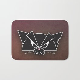 Crabby Cat - black Bath Mat