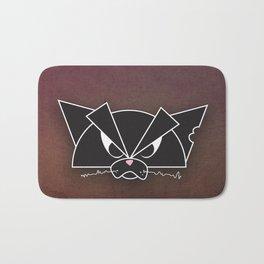 Crabby Cat - black Bath Mat