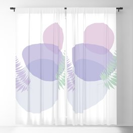 Little pebbles and tropical leaf planet #society6 #minimalart #abstractart Blackout Curtain