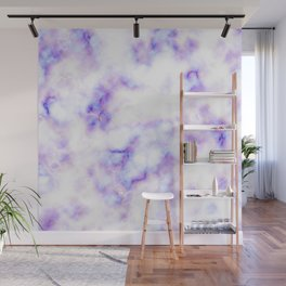Pattern of purple marble Wall Mural