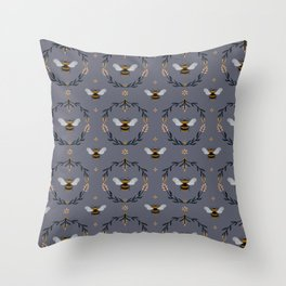 Ode to the Bumblebee (in lavender) Throw Pillow