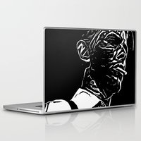 david bowie Laptop & iPad Skins featuring Bowie by Anvil Design California
