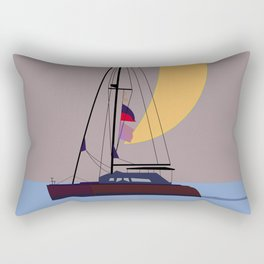 Boat in the middle of the night Rectangular Pillow