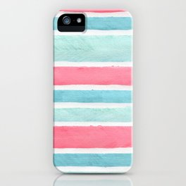 Pastel stripes iPhone Case
