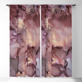 Ink Swirls Painting Lavender Plum Gold Flow Blackout Curtain