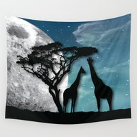 african Wall Tapestries featuring African Nights by Bakmann Art