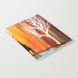 Romance in the Rain I romantic gift art Notebook