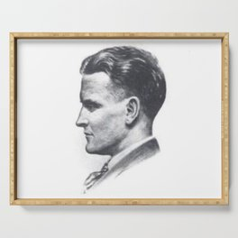 A portrait of F Scott Fitzgerald Serving Tray