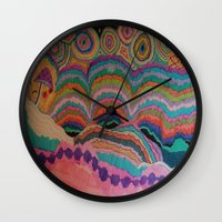 trippy Wall Clocks featuring Trippy by sheuh