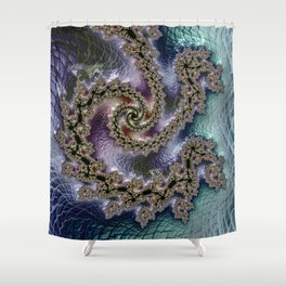 The Flow of Time Shower Curtain
