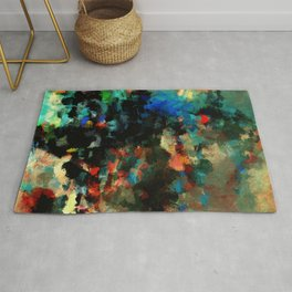 Colorful Landscape Abstract Painting Rug