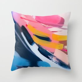 Even After All  #1 - Abstract on perspex by Jen Sievers Throw Pillow