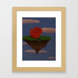 floating rose Framed Art Print