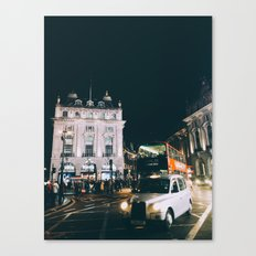 Piccadilly Cirkus by Night Canvas Print