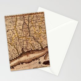 Map Of Connecticut 1795 Stationery Cards