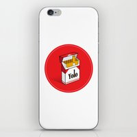 cigarettes iPhone & iPod Skins featuring YOLO Cigarettes  by RJ Artworks