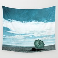 alone Wall Tapestries featuring Alone by Sandy Broenimann