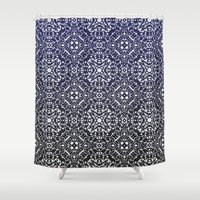 wallpaper Shower Curtains featuring Wallpaper by MinaSparklina