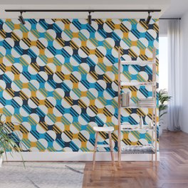 People's Flag of Milwaukee Mod Pattern Wall Mural