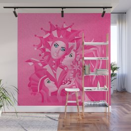 Shared Secrets in Pink Wall Mural