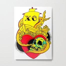 Love Lost At Sea Metal Print