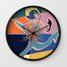 colorful runner Wall Clock