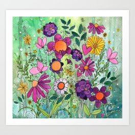Purple Plum Parfait Art Print