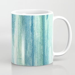 Turquoise vintage abstract metal pattern Coffee Mug