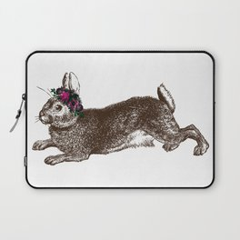 The Rabbit and Roses Laptop Sleeve