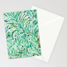 LUSH FREEDOM Watercolor Palm Print Stationery Cards