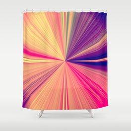 Starburst light beams - PLB457 Shower Curtain
