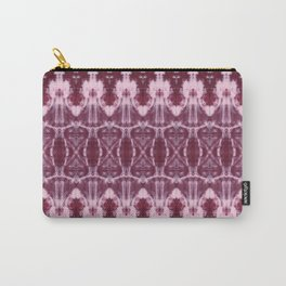 Burgundy Shibori Carry-All Pouch