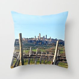 Tuscany's Town of Fine Towers Throw Pillow