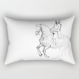 Horse (Canter Pirouette) Rectangular Pillow