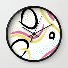 Pattern of retro Japanese pop ver Wall Clock