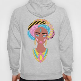 Colorful African Woman Hoody