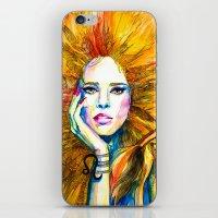 zodiac iPhone & iPod Skins featuring Leo Zodiac by Slaveika Aladjova