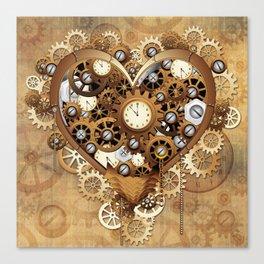 Steampunk Heart Love Canvas Print