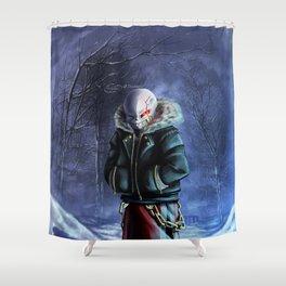 Underfell Sans Shower Curtain
