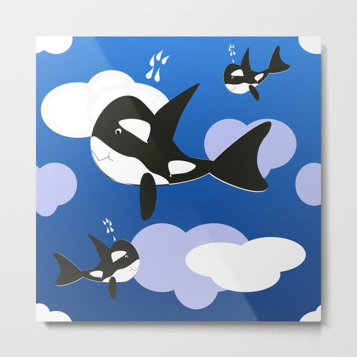 Orca Design Metal Print