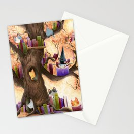 The library in the tree Stationery Cards