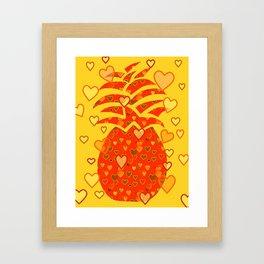 I Love Pineapple Framed Art Print