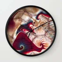 And Strokes Became Kisses Wall Clock