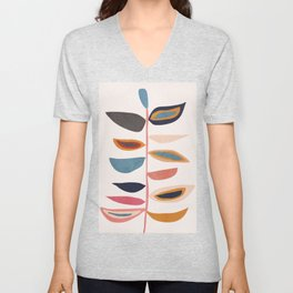 Abstract Plant Unisex V-Neck