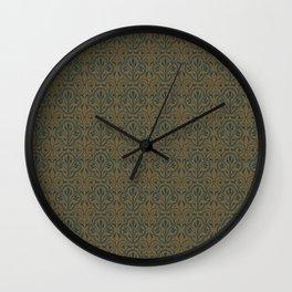 Victoria Wallpaper Pattern Wall Clock