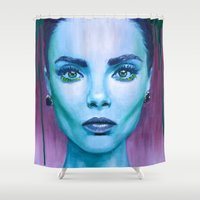 cara Shower Curtains featuring Cara by Stella Joy