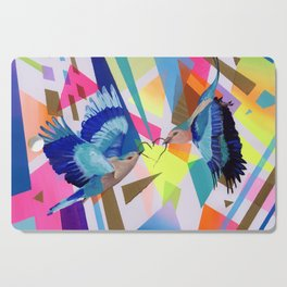 Geo Fly Birds Cutting Board