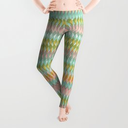 Shard Hand-Print Geometric - Meadow Leggings