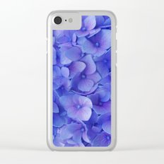 Hydrangea blue Clear iPhone Case